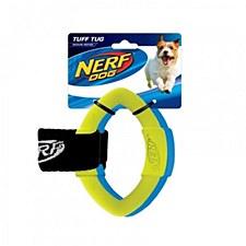 Nerf 2 Ring Strap Tug Dog Toy Medium Blue