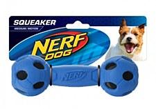 Nerf LED Barbell Dog Toy Medium Blue