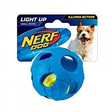 Nerf LED Bash Ball Dog Toy Small Blue