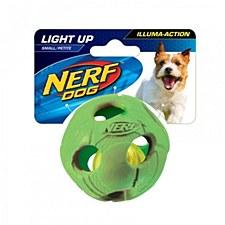 Nerf LED Bash Ball Dog Toy Small Green