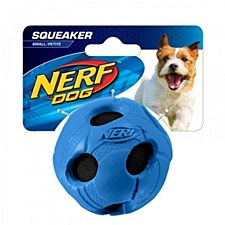 Nerf Tennis Ball Rubber Dog Toy Small Blue