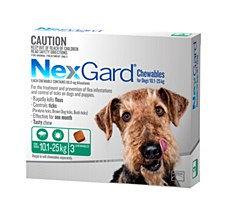 NexGard Flea and Tick Chew for Dogs 10.1kg to 25kg (3 Pack)