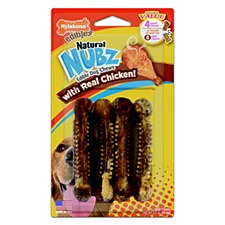 Nylabone Natural Nubz Chicken & Bacon Small Dog Chews (4 Pack)