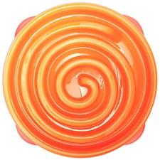 Outward Hound Fun Feeder Orange Dog Bowl