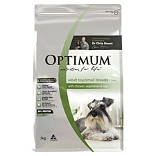 Optimum Adult Dog Small Breed with Chicken, Vegetables & Rice 3kg Dry Dog Food