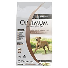 Optimum Adult Dog Large Breed with Chicken, Vegetables & Rice 15kg Dry Dog Food