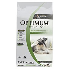 Optimum Adult Dog Small Breed with Chicken, Vegetables & Rice 15kg Dry Dog Food