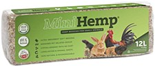 MiniHemp Hemp Bedding for Small Animals 12 Litre