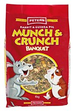 Peters Rabbit and Guinea Pig Munch & Crunch 4kg