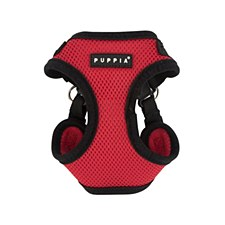 Puppia Dog Harness Soft Mesh C Large Red