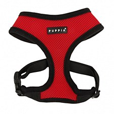 Puppia Dog Harness Soft Small Red