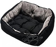 Rogz Luna Pod Black Paws Medium Pet Bed