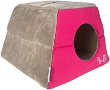Rogz Igloo Pod Candy Stripe Cat Bed