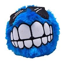 Rogz Fluffy Grinz Dog Toy Small Blue