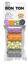 Bon Ton Biodegradable Dog Waste Bags Mixed Colours (8 Pack)