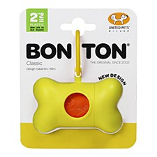 Bon Ton Classic Dog Waste Bag Dispenser Yellow