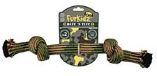 Furkidz Ruff n Tuff 2 Knot Rope Dog Toy Small 32cm