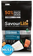 Savourlife Grain Free Adult Large Breed with Ocean Fish & Salmon 10kg Dry Dog Food