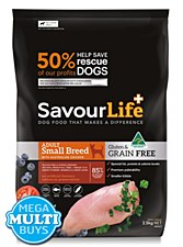Savourlife Grain Free Adult Small Breed with Chicken 10kg Dry Dog Food