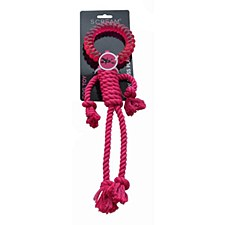 Scream Rope Man 30cm Pink Dog Toy