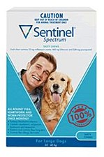 Sentinel Spectrum Tasty Chew for Large Dogs 22kg to 45kg (3 Pack)