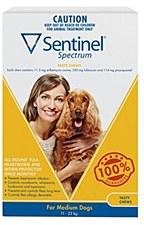 Sentinel Spectrum Tasty Chew for Medium Dogs 11kg to 22kg (3 Pack)