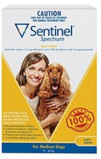 Sentinel Spectrum Tasty Chew for Medium Dogs 11kg to 22kg (6 Pack)