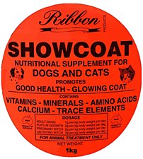 Ribbon Showcoat Nutritional Supplement for Dogs & Cats 1kg