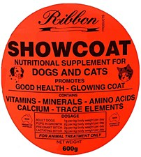 Ribbon Showcoat Nutritional Supplement for Dogs & Cats 600g