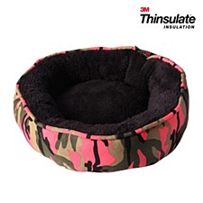 Pet One Small Animal Round Bed Pink Camouflage