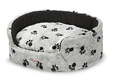 Snooza Buddy Silver & Black Paws Small Pet Bed