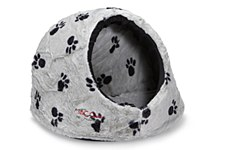 Snooza Igloo Silver & Black Paws Large Cat Bed