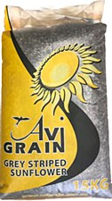 Avigrain Grey Striped Sunflower 15kg Bird Food