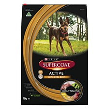 Supercoat Adult Active with Real Kangaroo 18kg Dry Dog Food