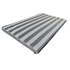 Superior Pet Goods Dog Mat Heavy Duty Grey & White Stripes Extra Medium