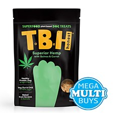TBH Carrot, Quinoa & Fava Bean Plant Based Dog Treats 100g