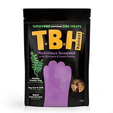 TBH Nutritious Seaweed with Chickpea & Sweet Potato Plant Based Dog Treats 100g