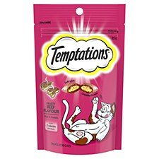 Temptations Hearty Beef Flavour Cat Treats 85g