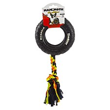 TireBiter Tyre with Rope Dog Toy 15cm Small