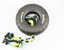 TireBiter Tyre with Rope Dog Toy 25cm Large