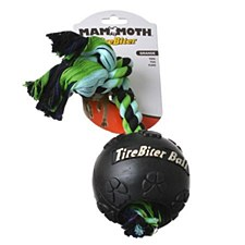 TireBiter Ball with Rope Dog Toy