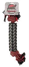 Tough Tugger Sleeved Rope Dog Toy Black