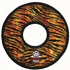 Tuffy Mega Ring Tiger Print Dog Toy