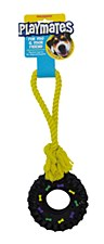 Masterpet Playmates Tug Dog Toy with Tyre Small