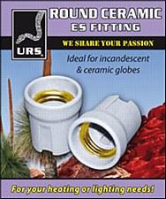 URS Ceramic Globe Holder Round
