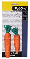 Pet One Carrot Vegie Rope Chews Small Pet Treats (2 Pack)