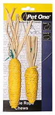 Pet One Corn Vegie Rope Chews Small Pet Treats (2 Pack)