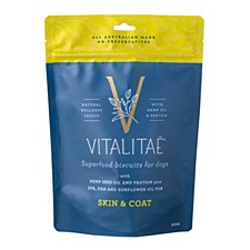Vitalitae Superfood Biscuits for Dogs Skin & Coat Dog Treats 350g