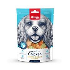 Wanpy Chicken Jerky & Biscuit Twists 100g Dog Treats