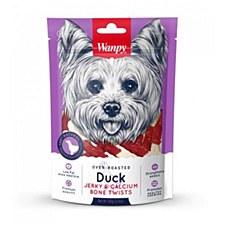Wanpy Duck Jerky & Calcium Bone Twists 100g Dog Treats